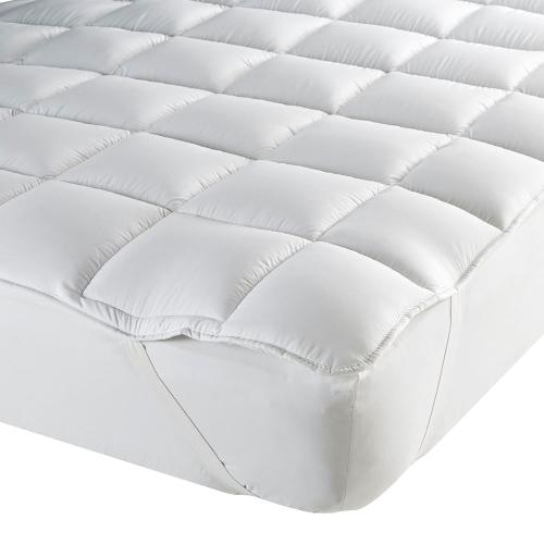 Luxury King size mattress topper, L200 x W150cm, White