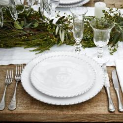 Pearl Set of 6 dinner plates, 28cm, white