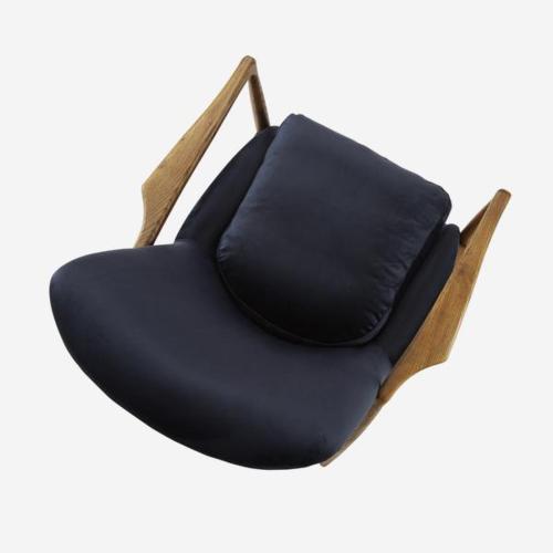 Crispin Chair, W68.5 x H82 x D72cm, Blue Velvet