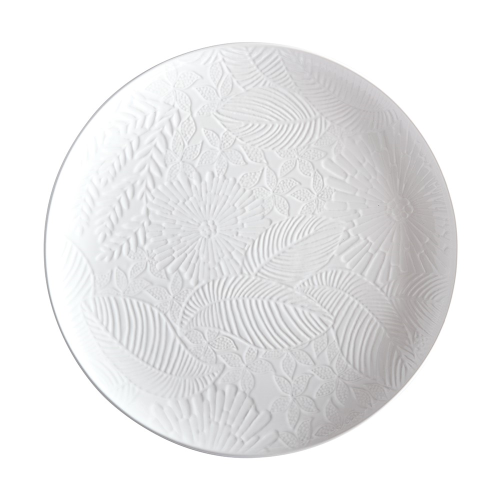 Panama Panama Stoneware Round Serving Platter Gift Boxed, WHITE