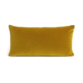 Monroe Oblong cushion, velvet/mustard
