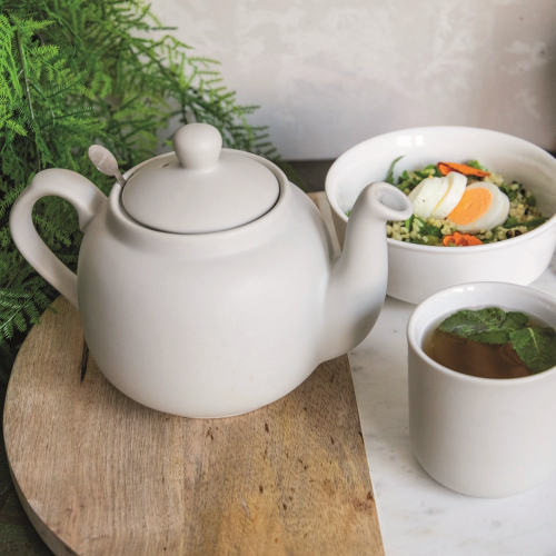 Globe Teapot, 900ml, Nordic Grey