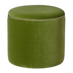 Costellini Small ottoman, D47 x H45cm, putting green velvet
