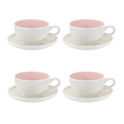 Set of 4 teacups and saucers 0.20L
