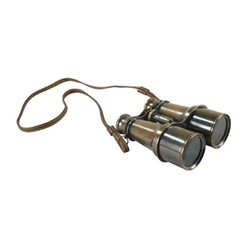 Victorian Binoculars with tripod, H6 x W12.5 x L12cm, bronze finished