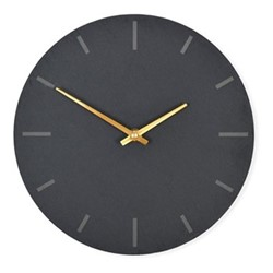 Coleridge Small clock, H25 x W25cm, black