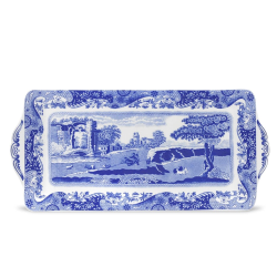 Blue Italian Sandwich tray, 38.5 x 16.5cm