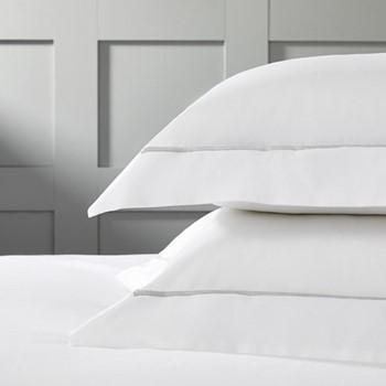 Savoy - 400 Thread Count Standard oxford pillowcase, 50 x 75cm, silver