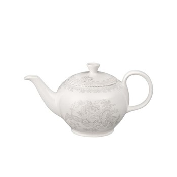 Dove Grey Asiatic Pheasants Teapot small, 400ml, grey/white