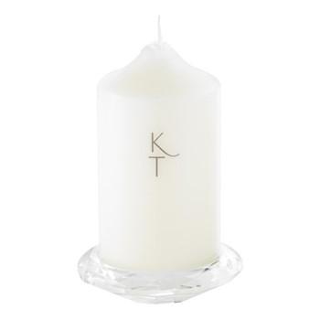 Pillar candle holder, clear