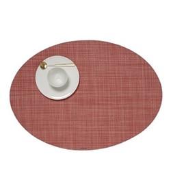 Mini Basketweave Set of 4 oval placemats, 36 x 49cm, guava