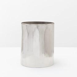Redon Wastebasket, H28 x D23cm, shiny nickel
