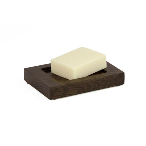 Mezza Soap dish, H2 x W13 x D9.5cm, dark brown