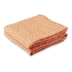 Ondas Linen beach towel, orange