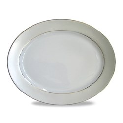 Clair de Lune Uni Oval meat dish, 40cm