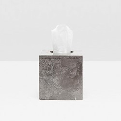 Veneto Tissue box, H13cm, gray polished marble