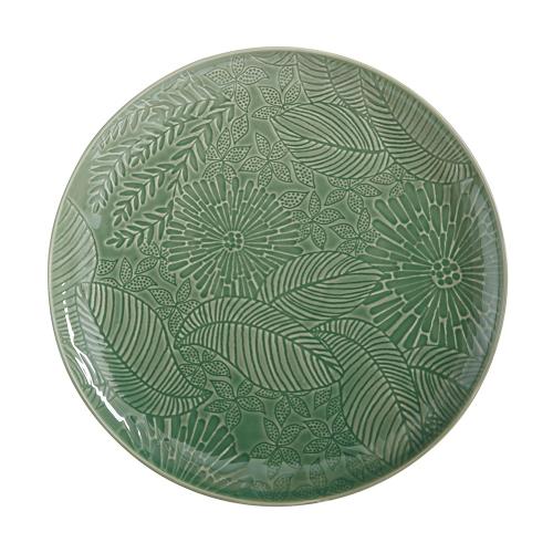 Panama Panama Stoneware Round Serving Platter Kiwi Gift Boxed, Green