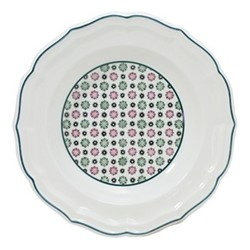 Dominoté - Artifices Set of 4 rim soup plates, 22.5cm
