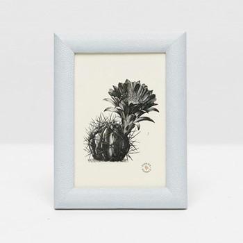 "Oxford Photograph frame, 5 x 7"", cloud gray faux shagreen"