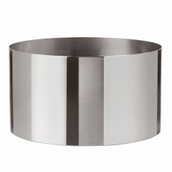 Cylinda-Line by Arne Jacobsen Salad/fruit bowl, H13.4 x D24.3cm, satin stainless steel
