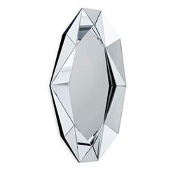 Diamond Extra large wall mirror, L82 x H140 x D6.7cm, silver