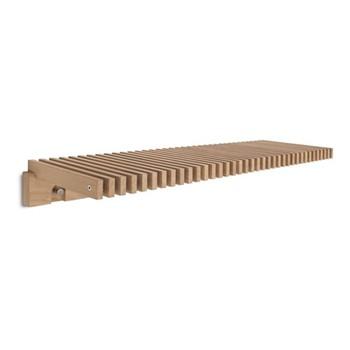 Cutter Coat hanging shelf, W120 x D34 x H13cm, oak/stainless steel
