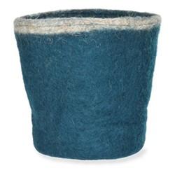 Southwold Waste paper bin, H23 x D23 x W23cm, teal