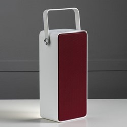 Blok Bluetooth speaker lantern, L9 x W6.3 x H20cm, white/red
