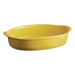 Provence Set of 3 large oval oven dishes, L43.5 x W31.5cm - 390cl, yellow