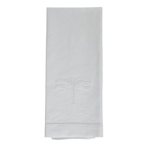 Dragonfly Set of 4 napkins, 45 x 45cm, White Cotton