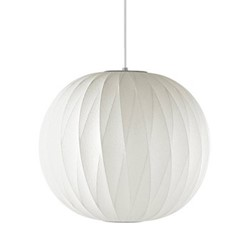 Ball Criss-Cross Small pendant lamp, W32.5 x H30.5cm, white