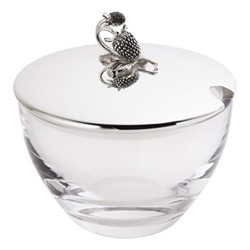 Raspberry Jam jar, Dia 9.5cm, sterling silver