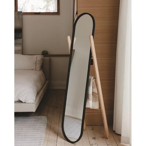 Hub Floor mirror, 15 x 8 x 42cm, Black/Natural