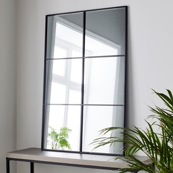 Manhattan Mirror, L120 x W80 x D2cm, black