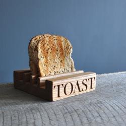 Toast Toast rack, 15 x 15 x 4.5cm, oak