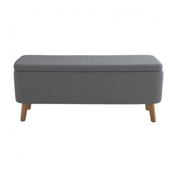 Jacobs Upholstered storage bench, W110 x H44 x D40cm, charcoal