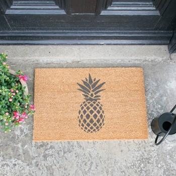 Pineapple Doormat , L60 x W40 x H1.5cm, grey