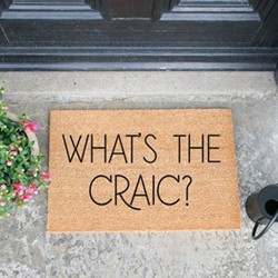 What's The Craic Doormat, L60 x W40 x D1.5cm, natural/black