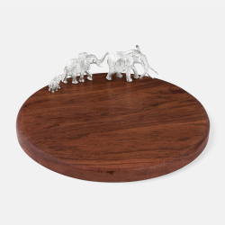 The Highland Safari Collection Large round serving board, D30 x H9cm, elephant