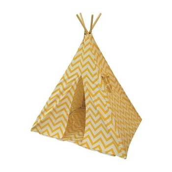 Chevron Teepee bundle, L100 x W100 x H135cm, yellow