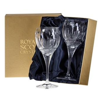 Belgravia Pair of large wine glasses, H21cm, clear