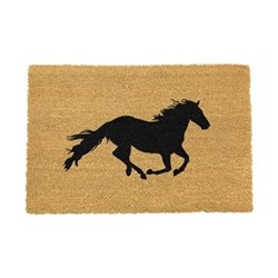 Images Doormat - Horse, black/brown
