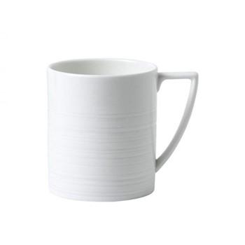 Jasper Conran - Strata Mug, H10.4 x W8.8 x D12.3cm, white