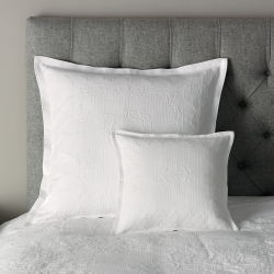 Etienne Large square cushion cover, 65 x 65cm, white
