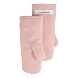 Canvas Small oven mitts, 13 x 27cm, pale rose