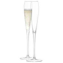 Wine Pair of grand Champagne flutes, 100ml, clear