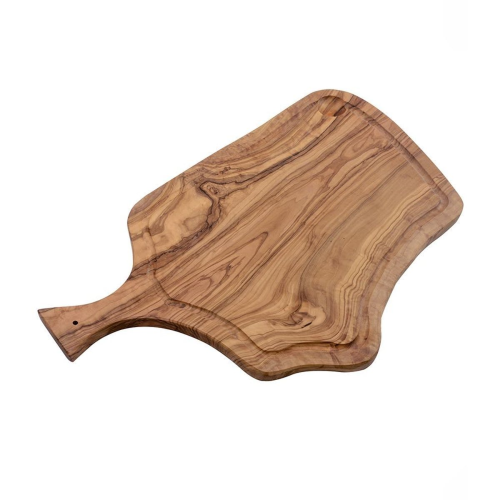 Rustic chopping board with grove and handle, 50cm