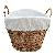 Light Steamed Laundry Basket, White Lining