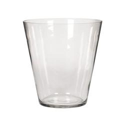 Alderney Conical Large hurricane vase, H29.5 x D28cm, clear