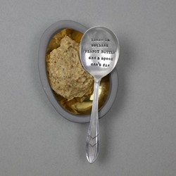 There Is Nothing Peanut Butter Spoon, 13cm, silver plated